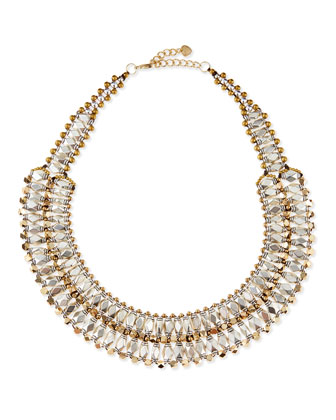 Two-Tone Beaded Collar Necklace