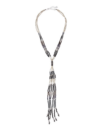 Beaded Bolo Tassel Necklace