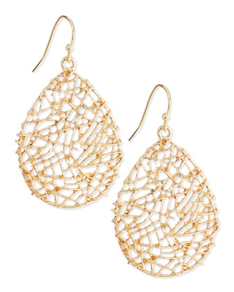 Golden Open-Work Drop Earrings
