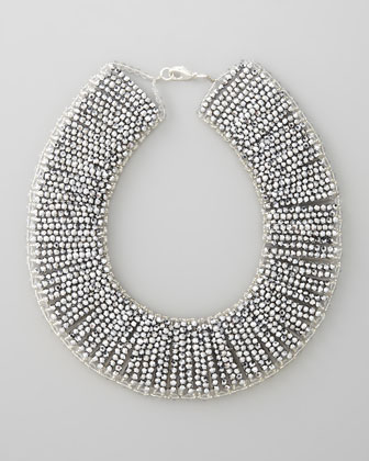 Metallic Beaded Collar Necklace
