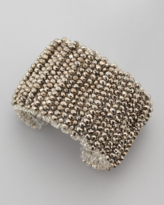 Metallic Beaded Cuff Bracelet
