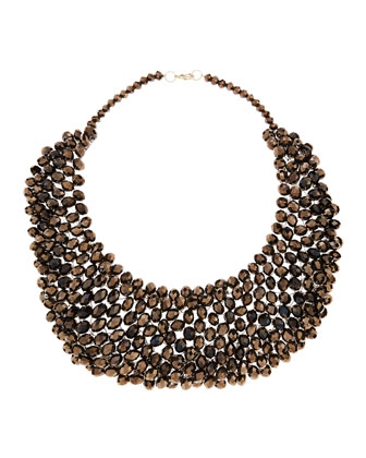 Beaded Collar Necklace, Hematite