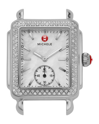 Deco 16 Stainless Diamond-Bezel Watch Head
