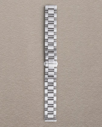 Engravable or Plain Deco Diamond Stainless Steel Watch Head & 3-Link ...