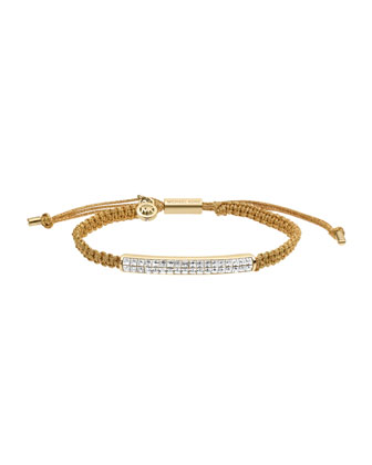 Holiday Macrame Cord Bracelet, Golden