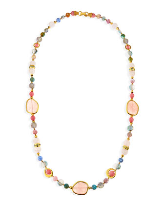 Multi-Stone Single Strand Necklace, 36