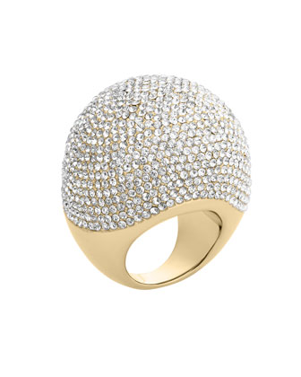 Pave Bubble Ring, Golden