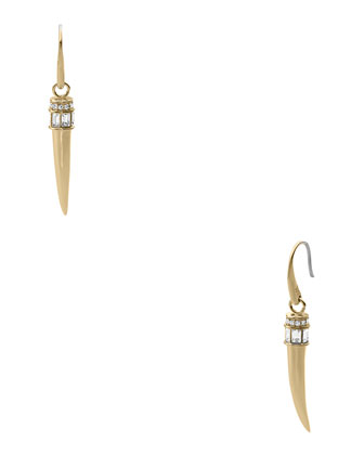 Horn Hook Earrings, Golden