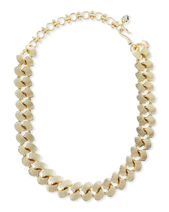 Brass Curb Chain Necklace, 19