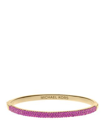 Camille Pave Bangle, Berry/Golden