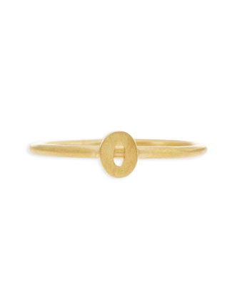 Gold Vermeil Number 0 Ring