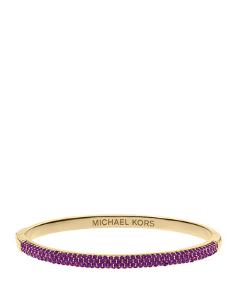 Camille Pave Bangle, Iris/Golden