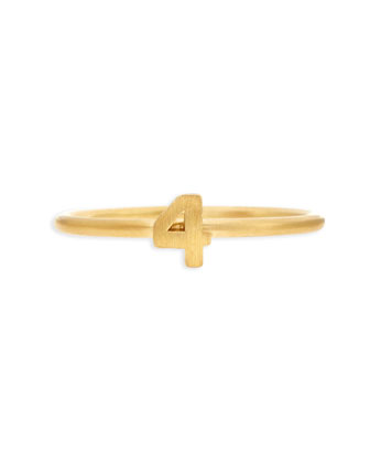 Gold Vermeil Number 4 Ring