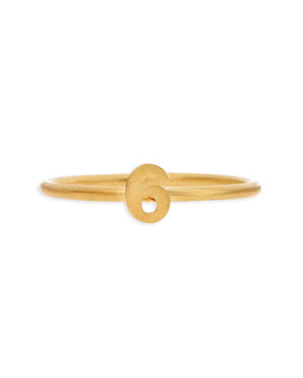 Gold Vermeil Number 6 Ring