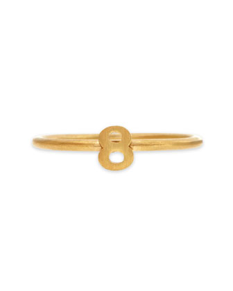 Gold Vermeil Number 8 Ring