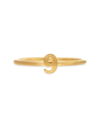 Gold Vermeil Number 9 Ring