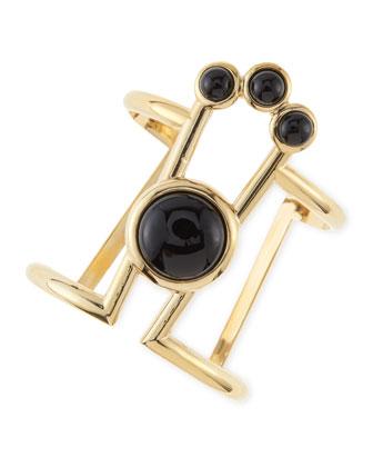 Onyx Comet Cuff Bracelet
