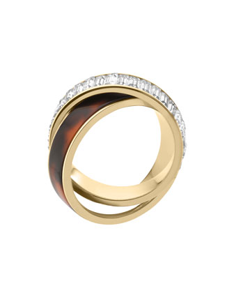 Baguette/Tortoise Eternity Ring, Golden