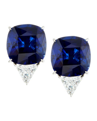 Cushion-Cut Cubic Zirconia Stud Earrings