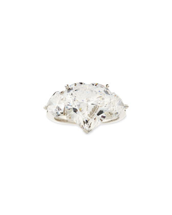 Cubic Zirconia Heart Ring, 9.0 TCW