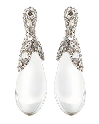Pave Crystal Lucite Drop Earrings