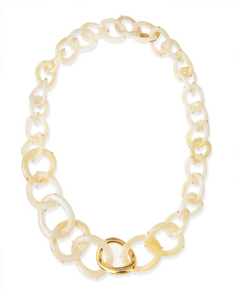 Pearly Resin Link Necklace, 30