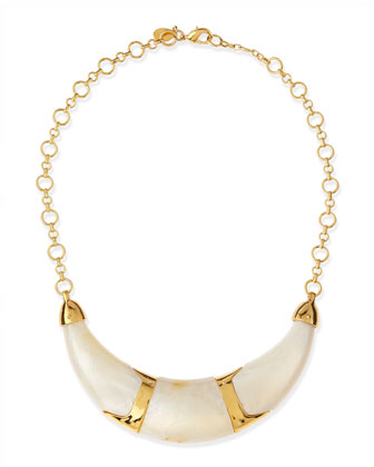 Pearly Resin Collar Necklace