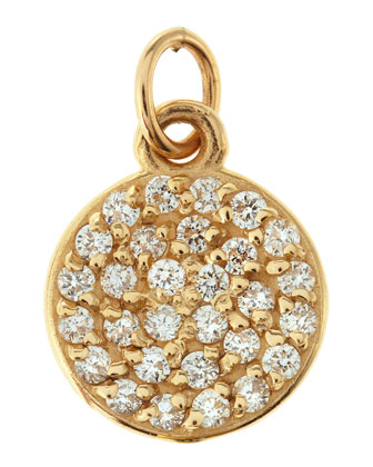 Small Jolie Diamond Disc Charm, 2/5