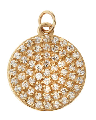 Jolie Small Diamond Disc Charm, 3/4