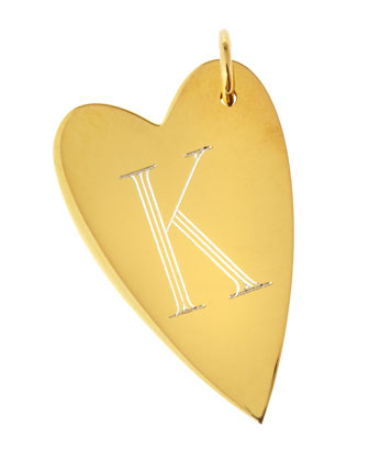 Large Jocelyn Initial Heart Charm