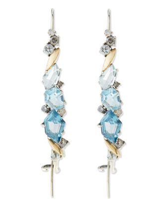 Midnight Marquise Hook Earrings, Blue