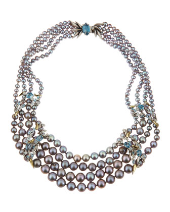 Midnight Marquise Pearl Necklace
