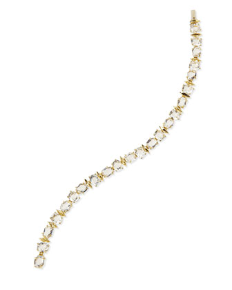 18k Golden Ice Marquise Bracelet