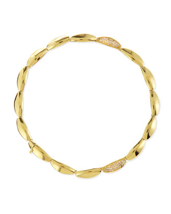 18k Gold Pave Diamond-Station Bracelet
