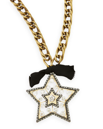 Star Brooch Pendant Necklace