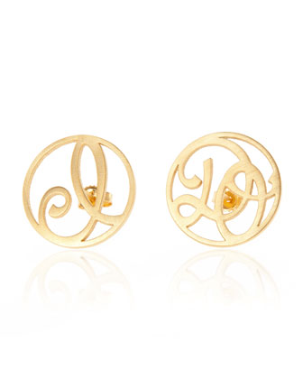 I Do Stud Earrings, Yellow Gold