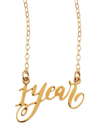 1-Year Anniversary Calligraphy Necklace