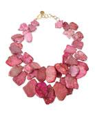 Chunky Light Pink Jasper Necklace