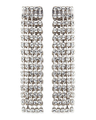 crystal fringe earrings, clear