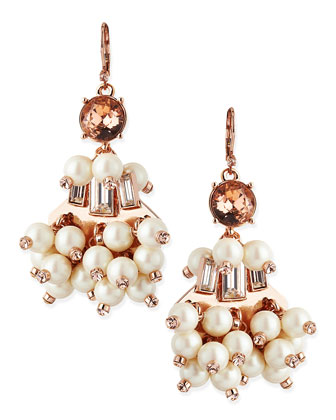 clink clink pearly beaded earrings