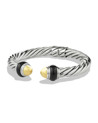 Cable Classics Bracelet with Gold Domes and Black Onyx