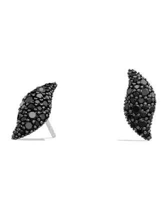 Hampton Earrings with Black Diamonds