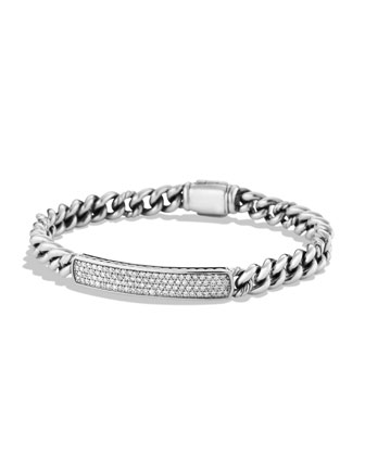 Petite Pav?? ID Bracelet with Diamonds