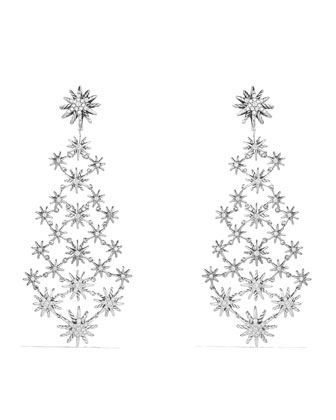 Starburst Chandelier Earring with Diamonds