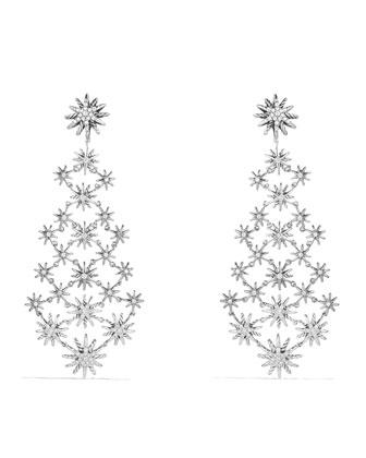 Starburst Chandelier Earring with Diamonds
