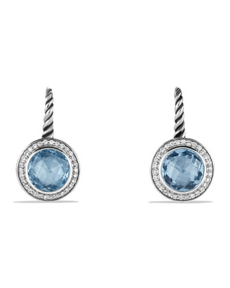 Color Classics Drop Earrings with Blue Topaz and Diamonds