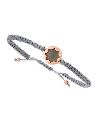 Sunburst Wrap Bracelet, Gray/Rose Gold