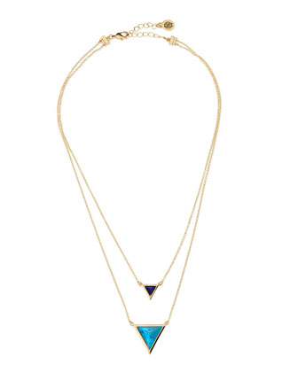 Temple Tiered Triangle Pendant Necklace