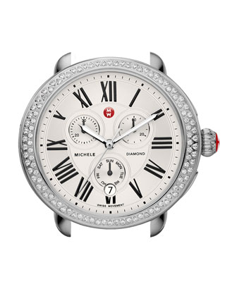 Serein Diamond Watch Head, Steel