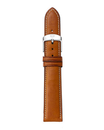 18mm Leather Watch Strap, Saddle
